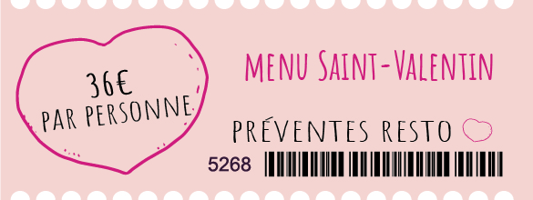 ticket saint valentin